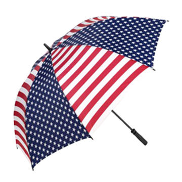 Golf umbrella with flag pattern