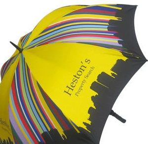Promotional Golf Umbrella with Different logo Printing Design