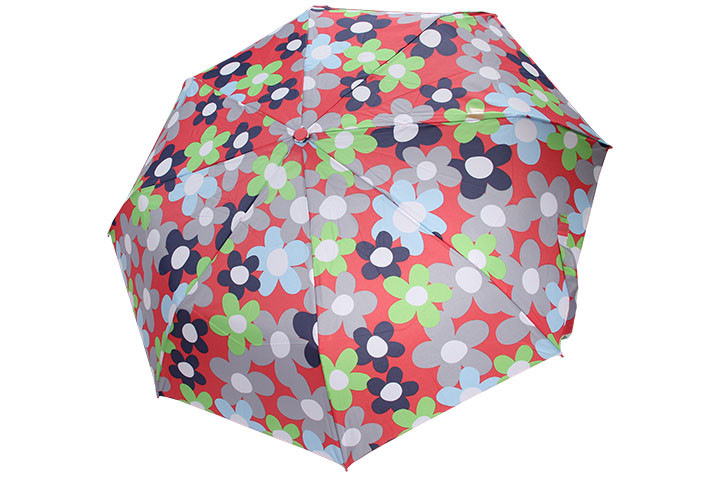 Custom Printing Pongee Cover Auto Umbrella