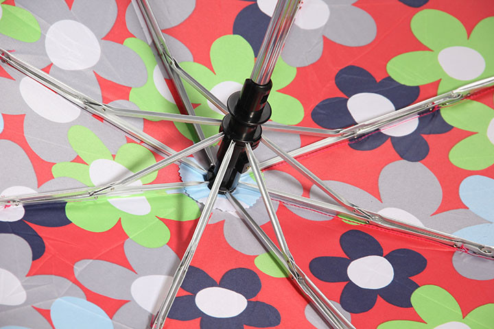 Custom Printing Pongee Cover Auto Umbrella with 3 Section Foldable
