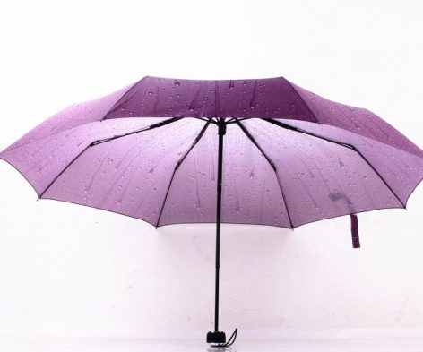 rain drip dripping beads print three folding fashion umbrellas