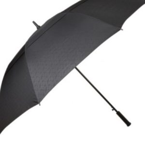 Personalised Large Black Windproof Golf Umbrella