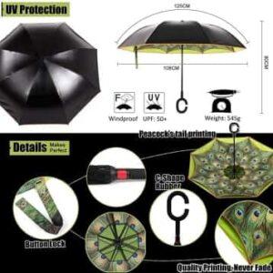 reflective strip umbrella