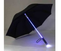 Led transparent umbrella black