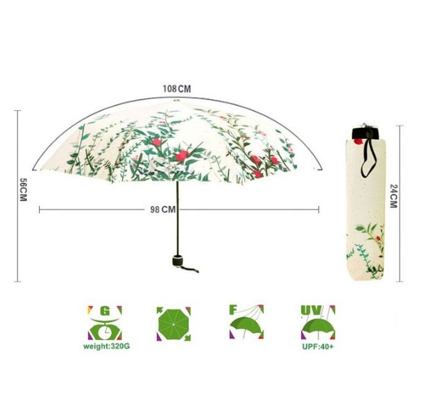 Fashion Parasol Beautiful Rain Umbrella
