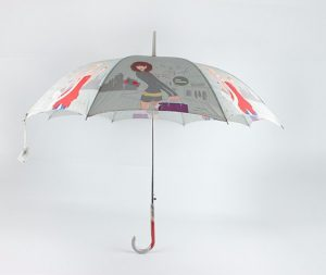 Fashion Long Straight Print Umbrella