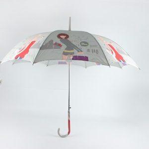 Fashion Long Straight Print Umbrella