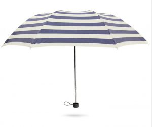 Stainless steel Umbrella Handle Petty with Stripe Umbrella
