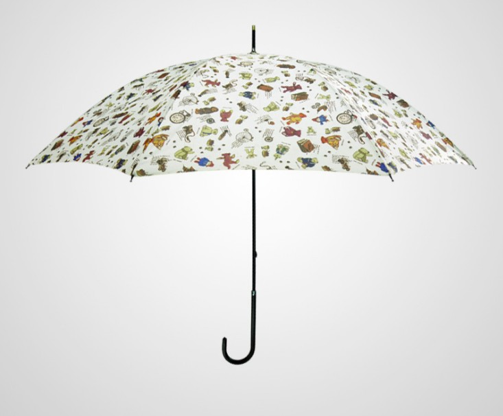 Colourful Animal Chic Printing Straight Umbrella