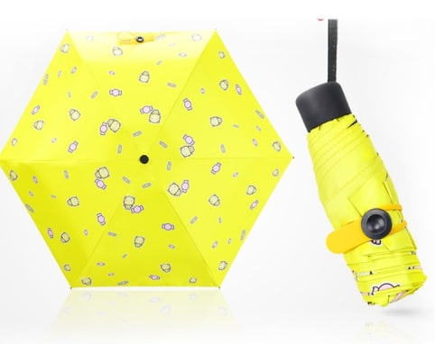 bright yellow umbrella