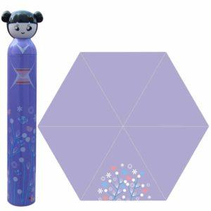 purple cartoon girl umbrella