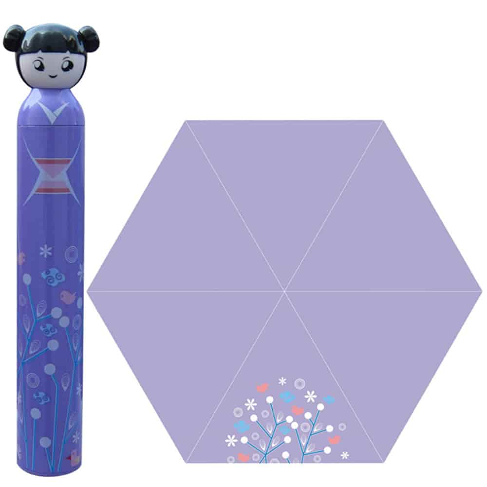 purple cartoon girl umbrella