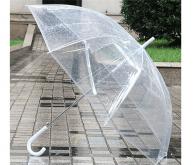 clear dome umbrella white handle