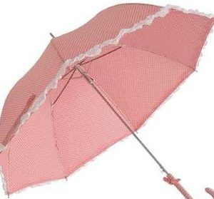 Fashion Windproof Outdoor Red Spot Parasol