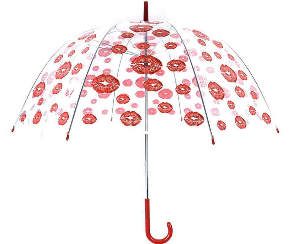 red-ladies-transparent-umbrellas