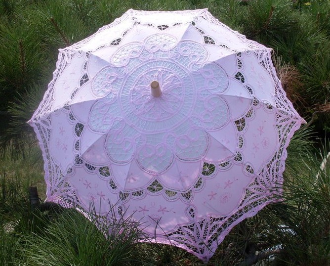8d281a8bce4b Chinese Handmade Lace Wedding Parasol Bridal Umbrellas