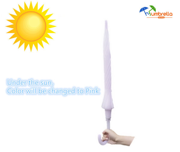 Special Color Change Umbrella When Under the Sun