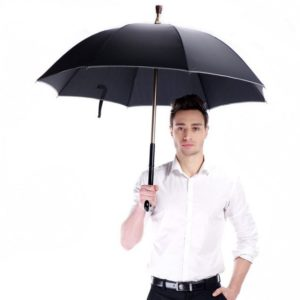 Gentlemen Multi function Adjustable Reflect Crutch Umbrella with T Handle
