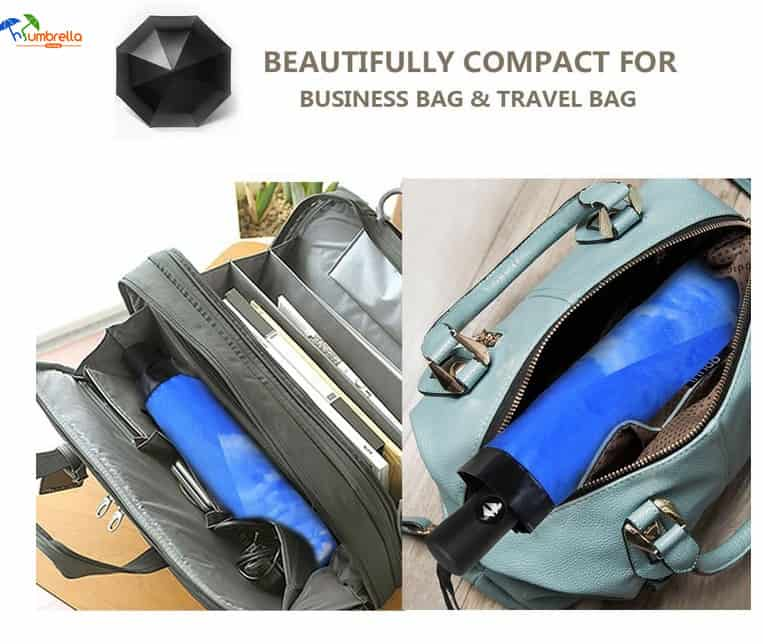 Compact Travel Folding Umbrella for Women and Men