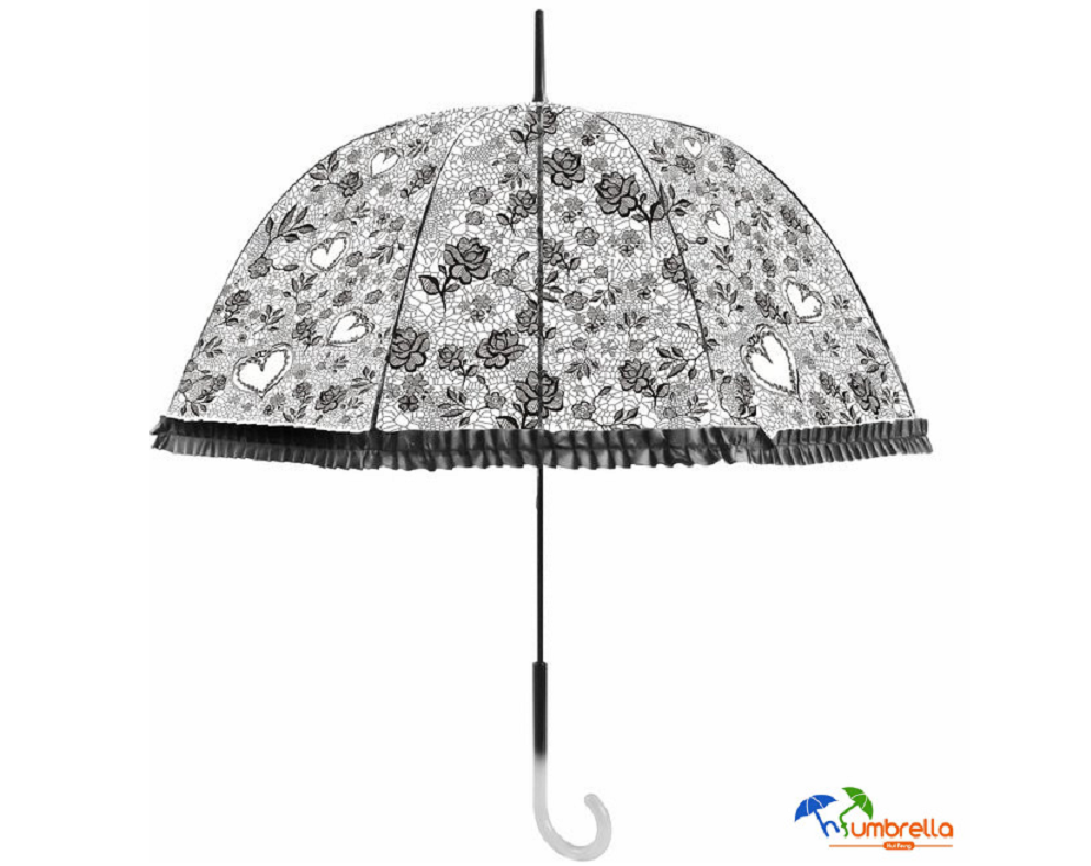 Transparent Dome Shape Princess Style Rain Umbrella