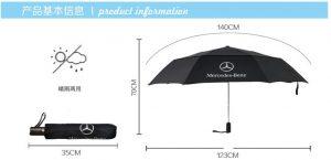 Travel Double Canopy Auto Open &Close Umbrella Fiberglass Steel Vented Windproof Umbrella