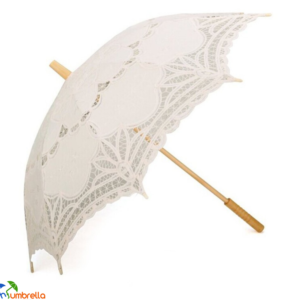 White Lace Wedding Parasol Umbrella Wholesale