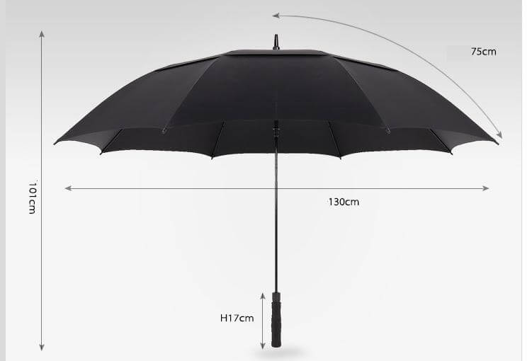 Golf umbrella measurement(1)