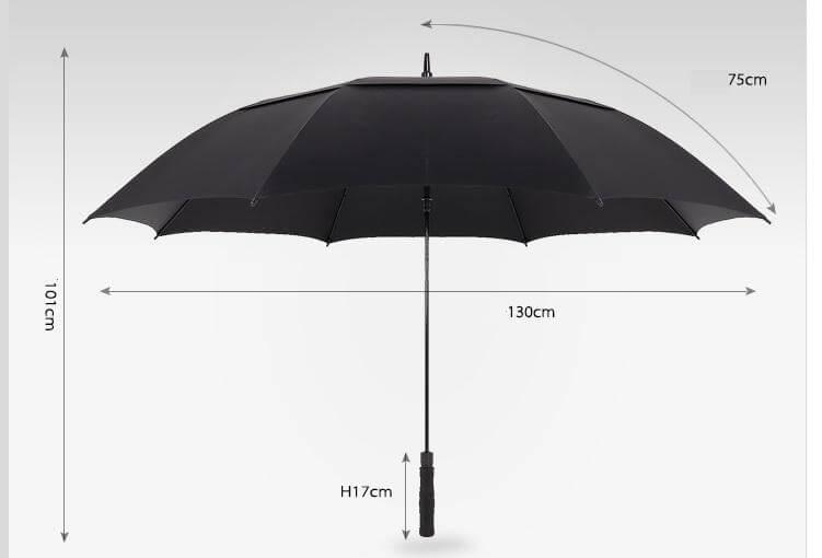 Golf umbrella measurement(1)
