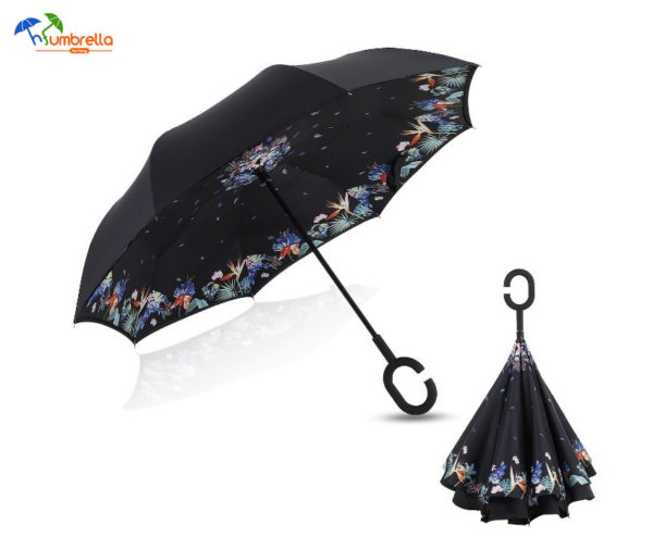 Double Layer Inverted Umbrella Windproof UV Protection