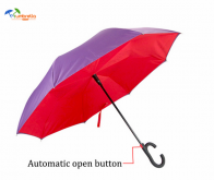 Red Double Layer Inverted Umbrella