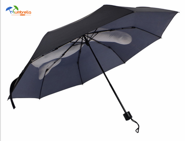 Custom Printed Fashion Design Middle Finger Umbrella