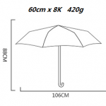 DOUBLE CANOPY UMBRELLA SIZE