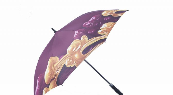 Printed umbrellas are attractive to catch people attention