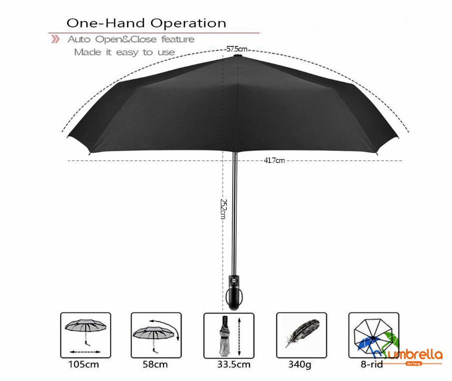 Compact Golf Windproof Umbrella