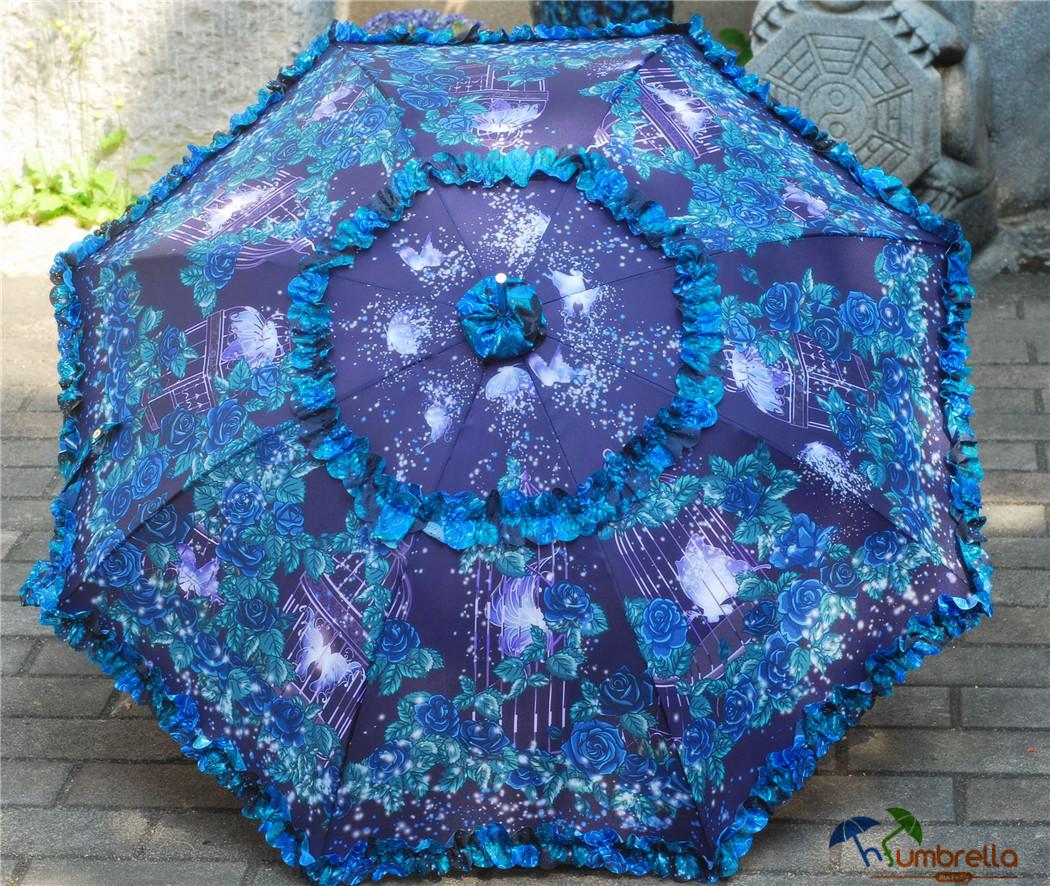 Printing Floral Umbrella