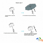 Travel Compact Golf Windproof Umbrella
