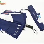 Automatic double canopy golf umbrella