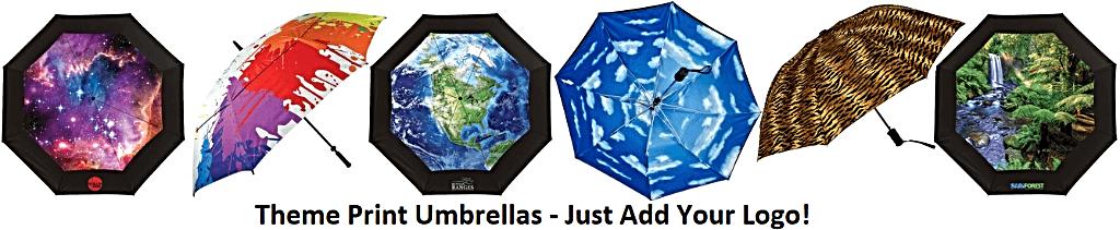 Full canopy print umbrellas