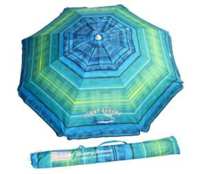 Custom Stripe Printing Beach Umbrella