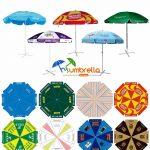 Advertising beach umbrellas