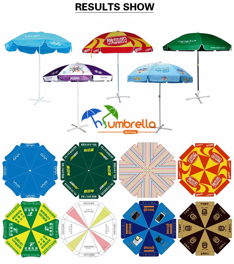 Advertising beach umbrellas