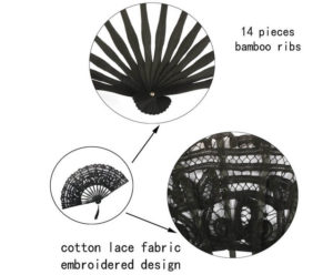 Cotton Lace Fans