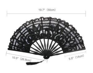 Lace Fans Size