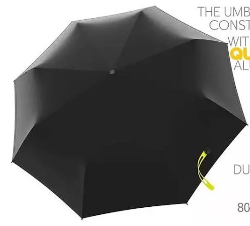 Black pongee umbrella