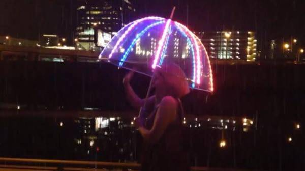 Led umbrellas 5