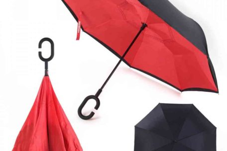 reverse umbrella red