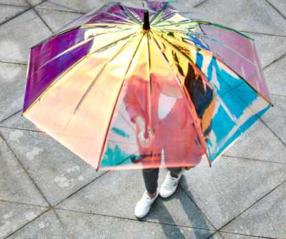 reflective shiny umbrella
