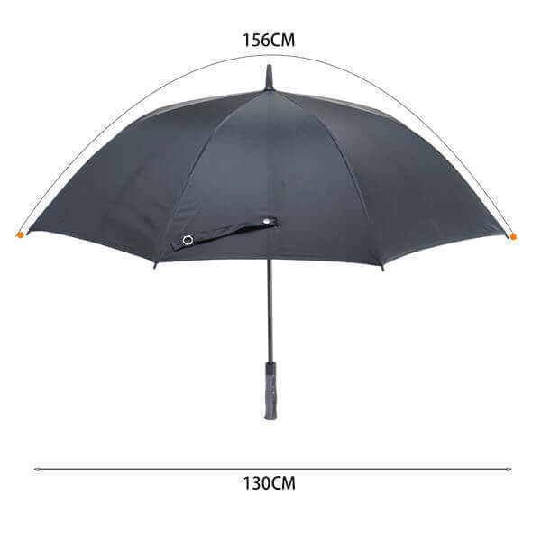 Golf umbrella with large canopy