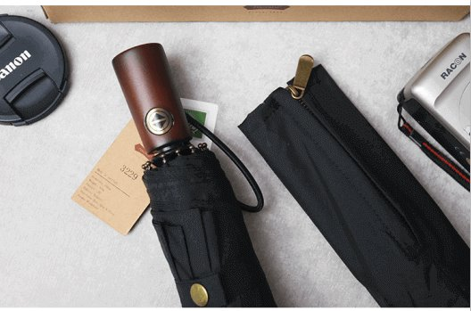 best folding umbrella with wooden handle