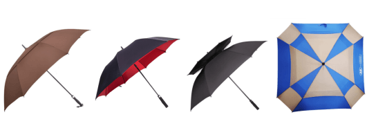 golf umbrella with double canopy